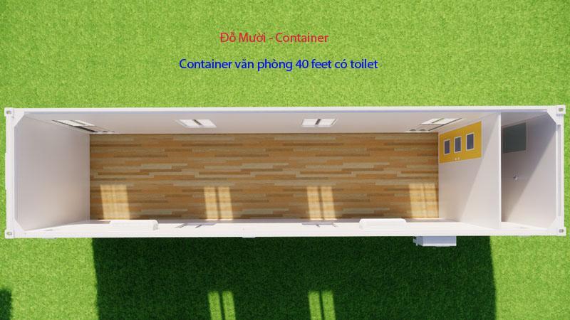container văn phòng 40 feet có wc