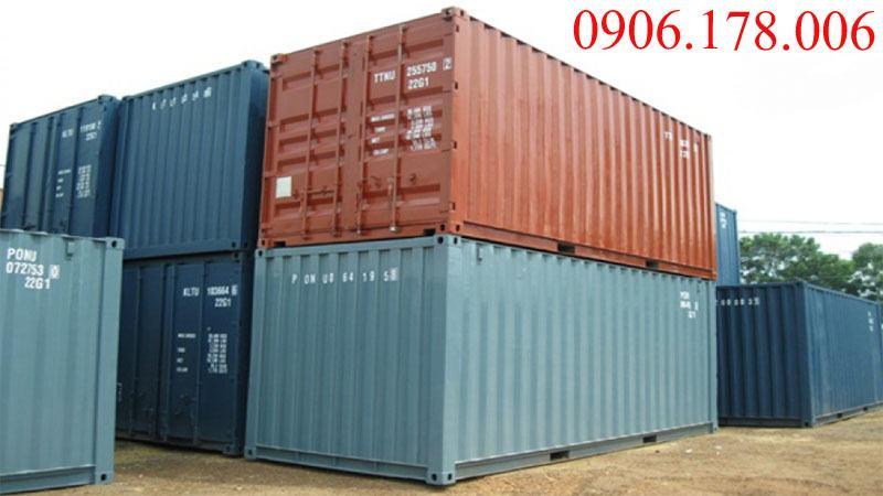 Kho hàng chứa thùng container 20 feet cũ