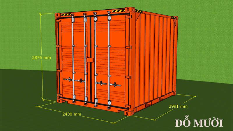 kích thước container 10 feet