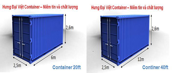 Container luôn có sự đa dạng về kích thước, phù hợp với yêu cầu khách hàng