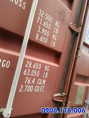 Giá bán container 20 feet chỉ hợp lý khi đi đôi với chất lượng