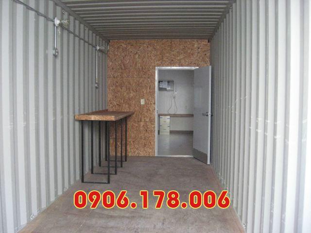 Nội thất bên trong container văn phòng cho thuê