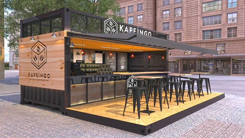 chi phí hoàn thiện container cafe