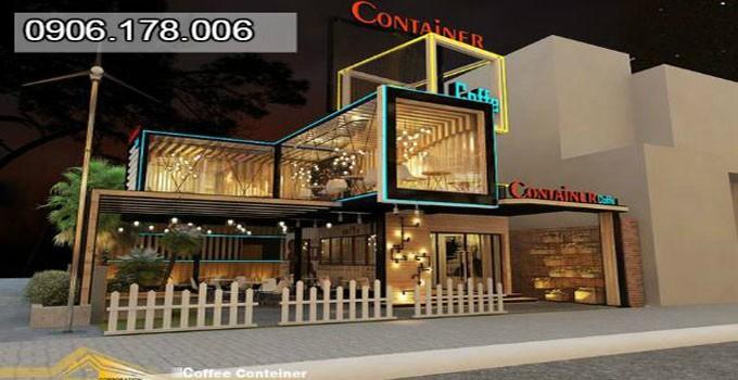 Mô hình quán container cafe chồng tầng đẹp