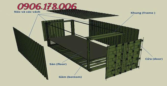 Kết cấu container 20 feet