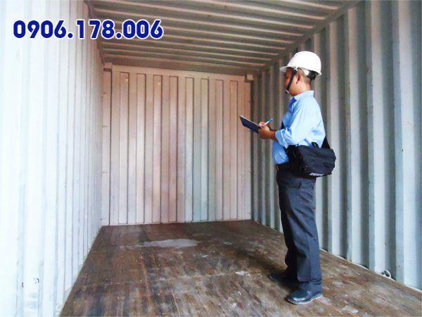 kiểm tra chất lượng thùng container