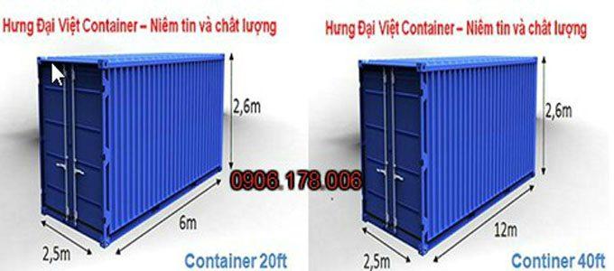 Thùng container nguyên bản
