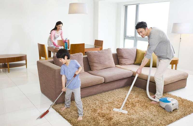 Vệ sinh nhà cửa sạch sẽ mang lại sức khỏe cho các thành viên trong gia đình