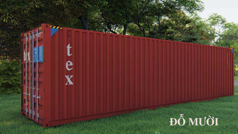 kích thước thùng container cũ