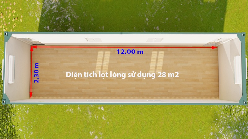 kich thuoc container van phong 40 feet