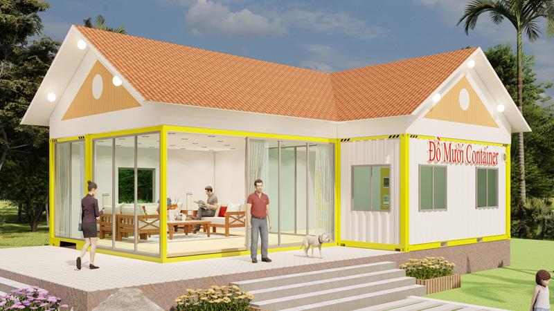 thiết kế container nhà vườn